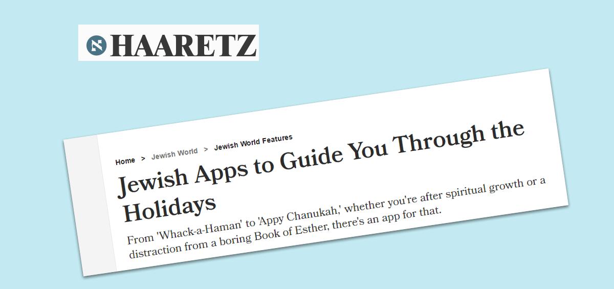 Haaretz: Jewish apps to guide you through the holidays - Jewish