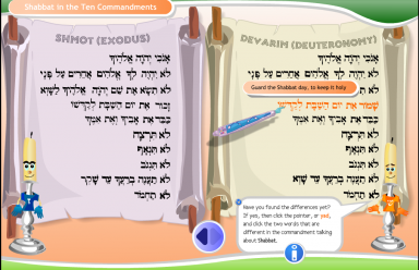 Shabbat Interactive Ten-Commandments