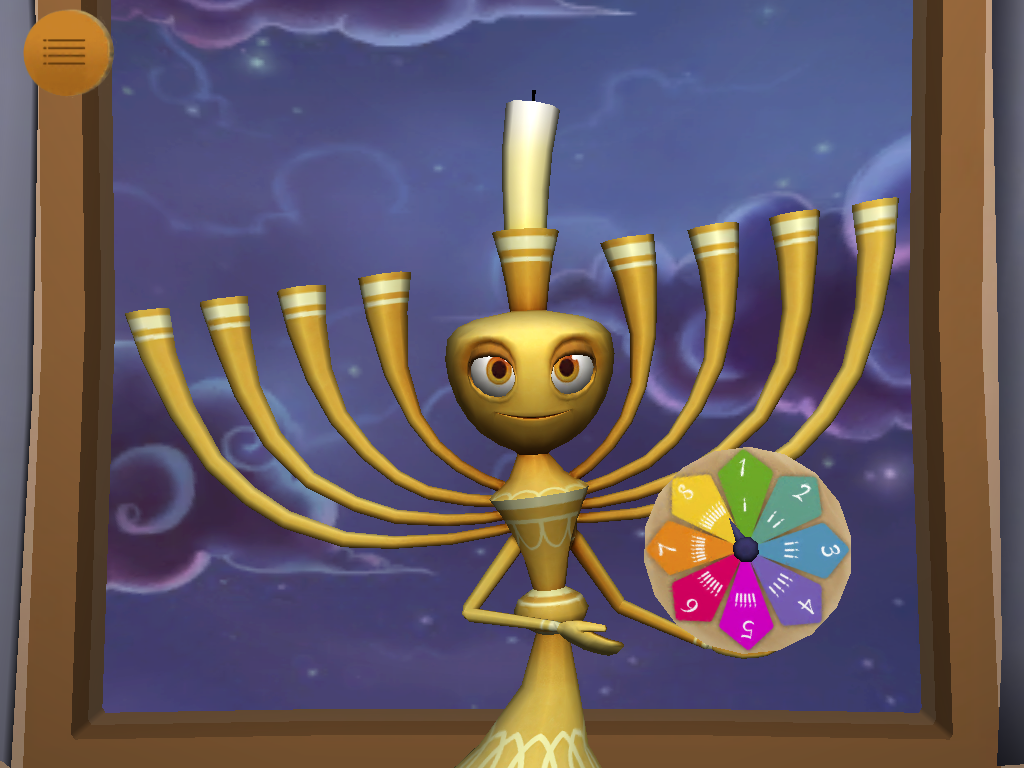 My Menorah Jewish Interactive Lighting Diagram And Spinner
