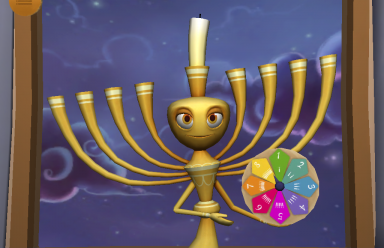 menorah and spinner