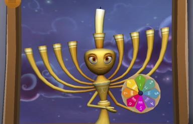menorah and spinner