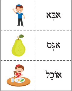 Hebrew Reading Flash Cards