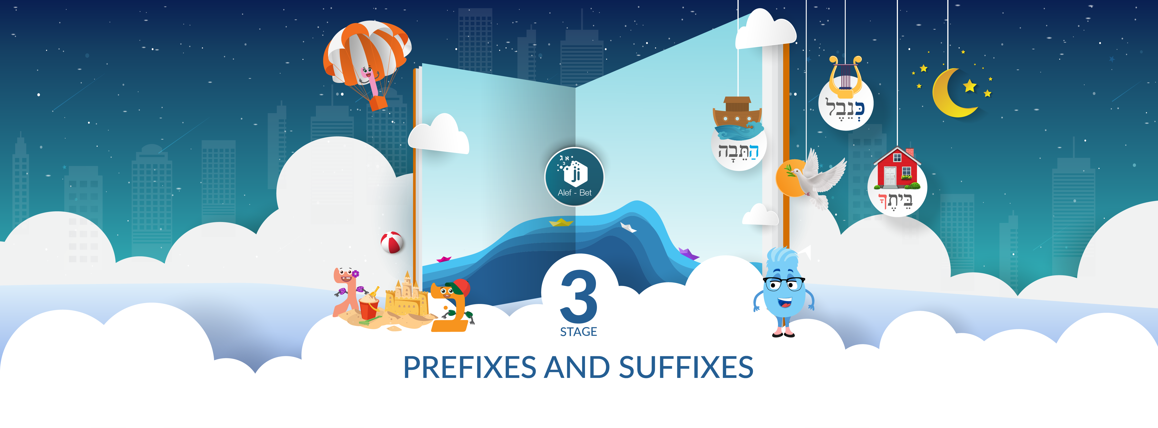 Ji Alef-Bet Series - Stage 3 Prefixes and Suffixes